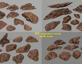 moss desert rock full set 3D