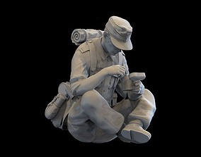 3D printable model German soldier binoculars