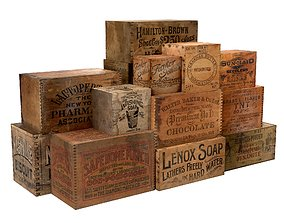 Old Wood Boxes 3D model low-poly