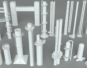 Industrial Tubes - 18 pieces 3D model tube