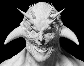 evil demon head 3D model