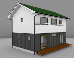 House model for background 02 low-poly