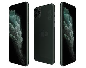 Apple iPhone 11 Pro Midnight Green 3D