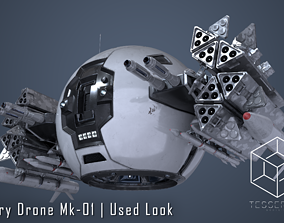 Military Drone Mk1 Used Look 3D model