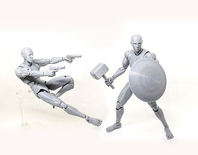 Mr figure V02 the 3D printed action figure