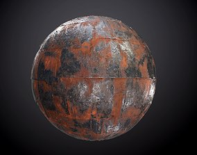 3D Metal Rusted Damaged Seamless PBR Texture