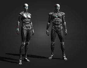 Cyborg Sci-Fi Robot 3D asset