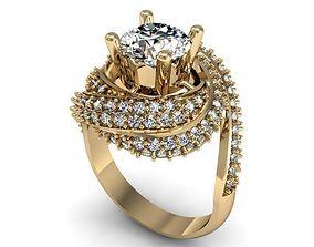 3D print model women Diamond Ring