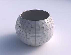 3D printable model Bowl spheric with distorted grid plates