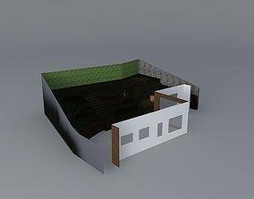 Garden design steep slope 3D