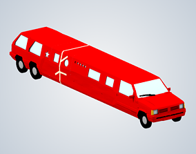 3D printable model Jeremy Clarksons limo Top Gear