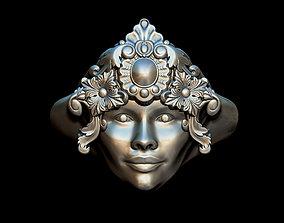 carnival Woman ring 3D printable model