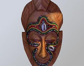 3D asset African Tribal Mask