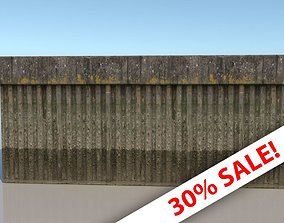 Canal or dock Wall Material - VRay Shader Texture 3D asset