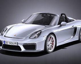 Porsche Boxster Spyder 2017 VRAY 3D model
