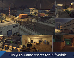RPG FPS Game Assets for PC Mobile Industrial Set 3D model