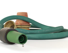 3D model low-poly Garden Hose