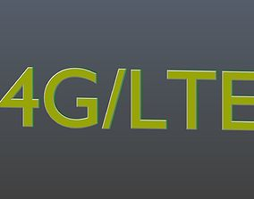 Low poly 4G LTE 3D asset