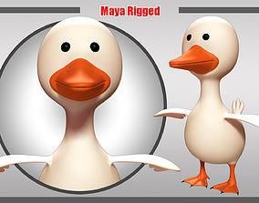 Duck Rigged 3D asset