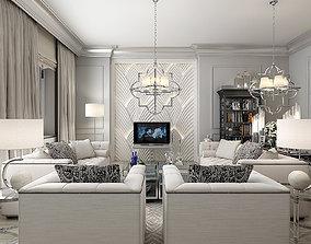 3D model Eichholtz Living Interior Set set