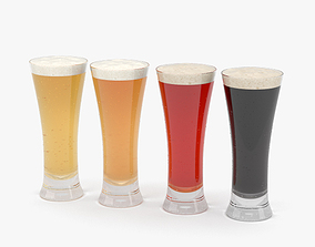 3D model Beer Pilsner Glass