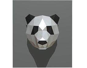 3D printable model panda figure 2 low poly