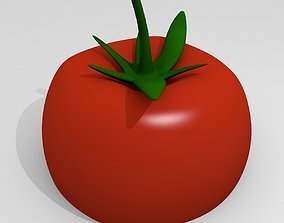 Tomato 3D model low-poly