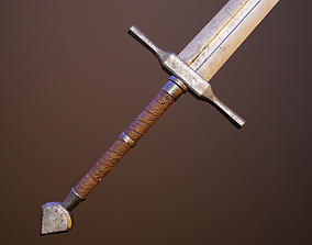 Medieval double-handed swords pack 3D model