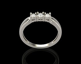 3D printable model Ring with diamonds gem-stone
