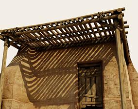 3D model realtime Crude Hut