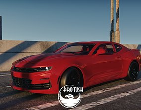 low-poly Chevrolet Camaro 2020 3d Low-poly