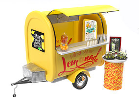 Food Truck Lemonade 3D model
