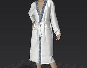 bathrobe and clothes 3D model