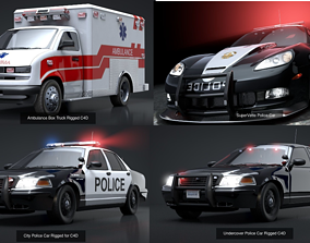 3D Emergency Vehicles Collection Pack