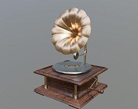 Antique Phonograph Gramophone 3D asset