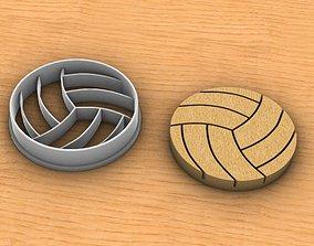 Volleyball cookie cutter 3D print model
