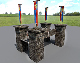 Medieval Stone Bridge - Modular 3D asset