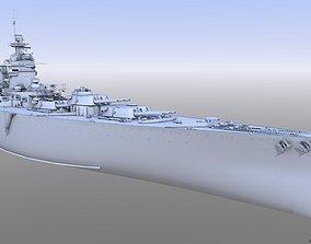 BATTLESHIP HMS RODNEY war 3D