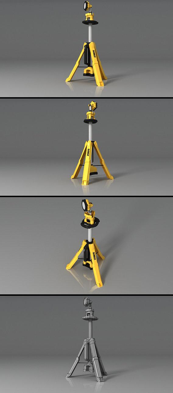 DEWALT 20v Tripod Light Render