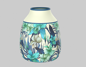 Floral Vase Rustic 3D
