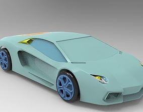 3D asset Lamborghini - Aventador