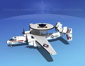 3D model Grumman E-2C Hawkeye V12