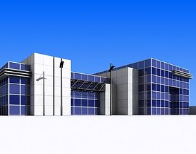 3D asset low-poly showroom Office Building