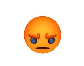 3D asset Animated Facebook Angry Reaction Button
