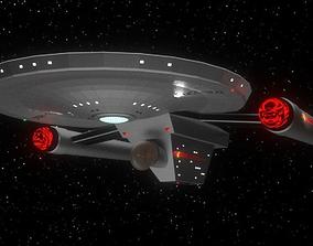Detroyat-Class Destroyer TOS era 3D model