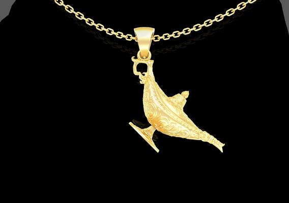 Magic Lamp Pendant jewelry Gold 3D print model