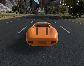 3D model Racing Level for Unity