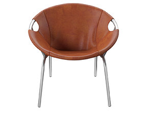 3D model Dries Leather Sling Chair
