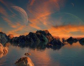3D model Alien Planet Sci-Fi Fantasy Scenery
