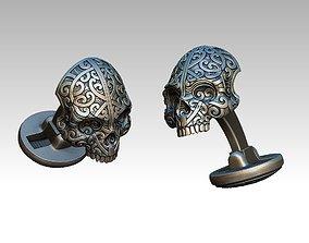 stylish cufflinks skull 3D print model